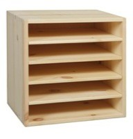 A4-kasse 33x33x24 cm, 5 rom