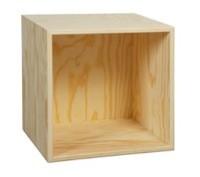 Dyp bokkasse 30x30x25 cm, med 1 rom